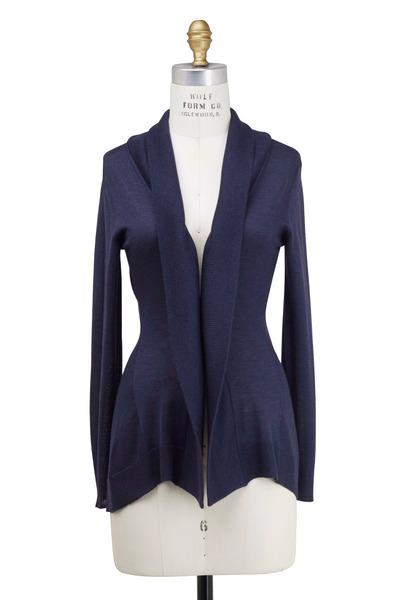 Rani Arabella - Navy Blue Cashmere & Silk Cardigan