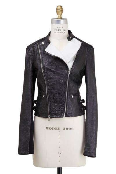 Yigal Azrouël - Black & White Leather Jacket