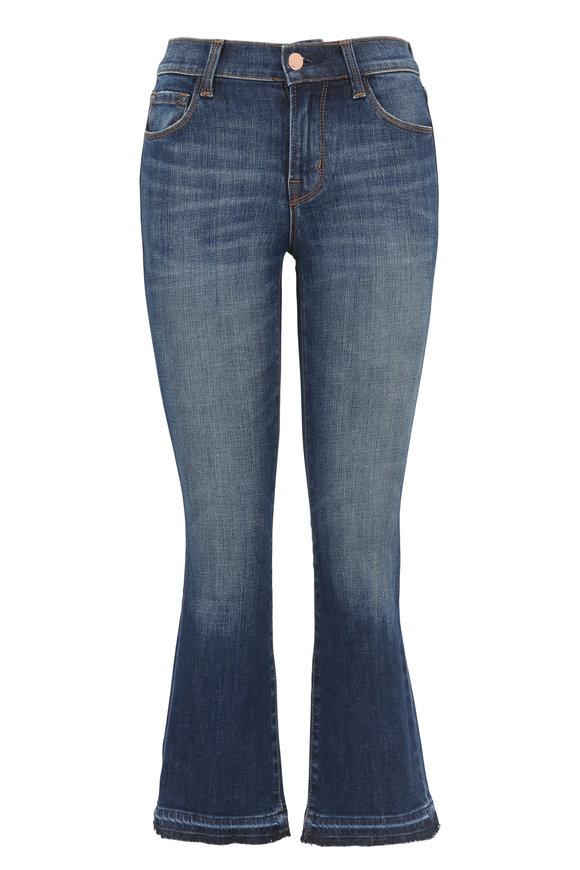 J Brand Selena Mid-Rise Crop Bootcut Jean
