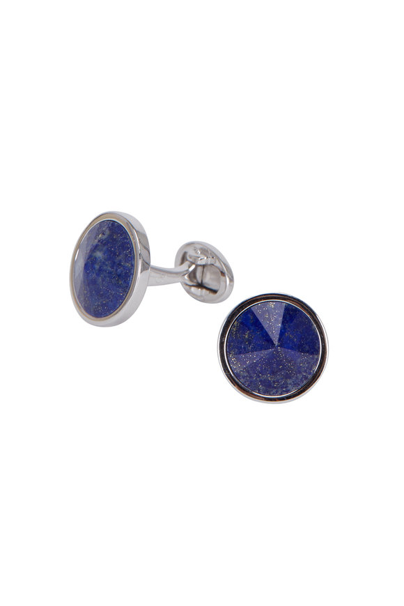 Jan Leslie Sterling Silver Lapis Cuff Links