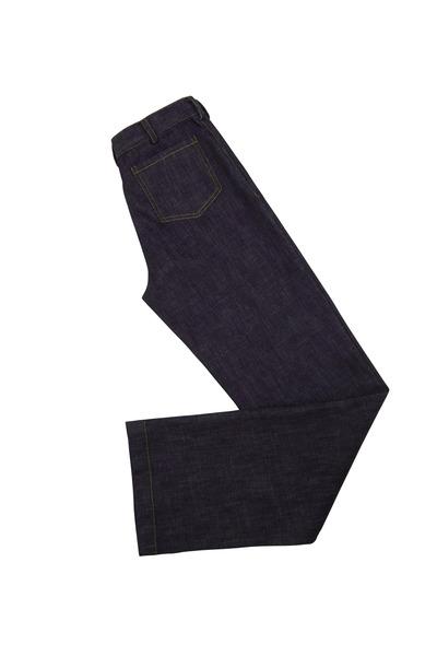 Derek Lam - Indigo Washed Denim & Twill Wide Leg Pants
