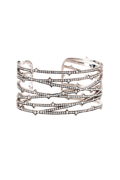 Sylva & Cie - 18K White Gold Diamond Cuff Bracelet
