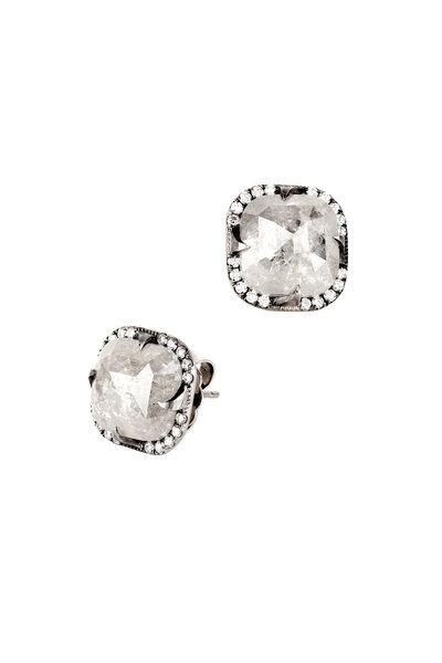 Sylva & Cie - Platinum Rough Diamond Studs