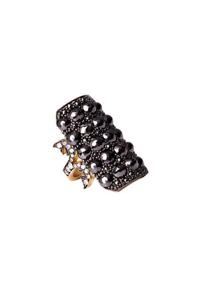 Sylva & Cie - Black Rough Diamond Ring