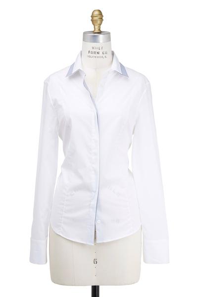 Rani Arabella - White Two Tone Contrast Shirt