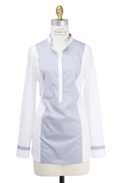 Rani Arabella - White Two Tone Tunic
