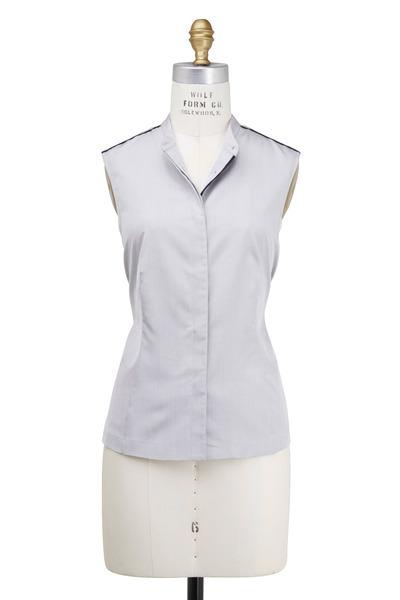 Rani Arabella - Light Grey Silk Shirt-Vest