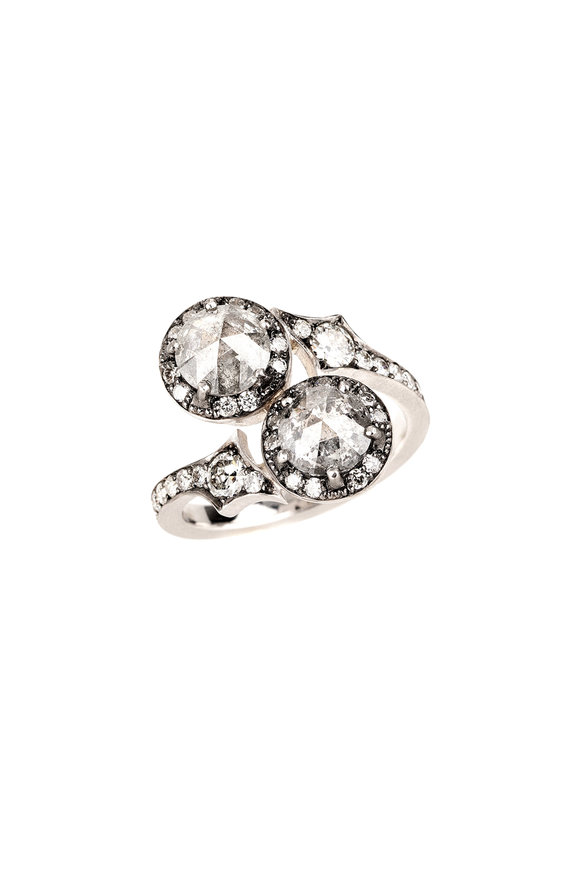 Sylva & Cie 18K White Gold Gray Diamond Ring