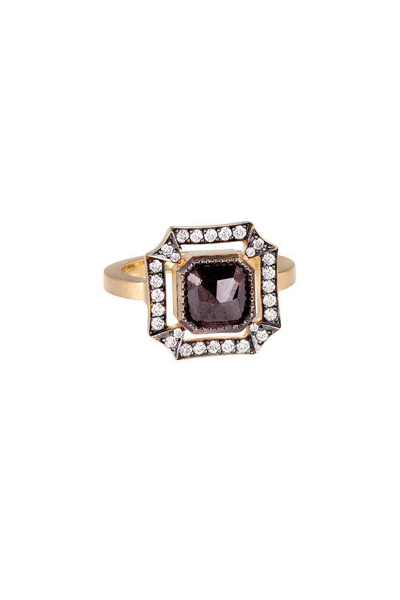 Sylva & Cie 18K Yellow Gold Rough Diamond Malta Ring