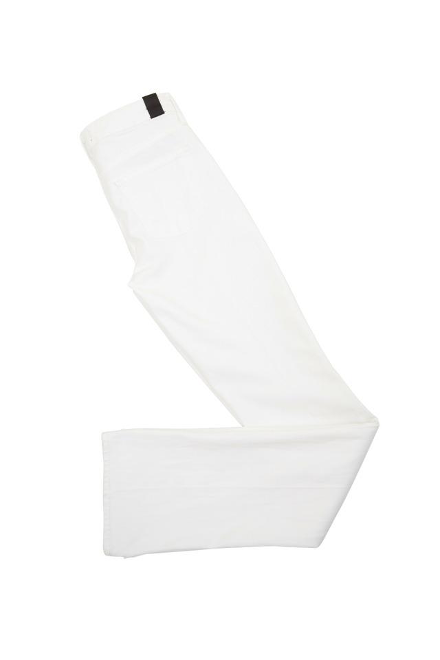 Taylor White Denim Highrise Boot Cut Pants