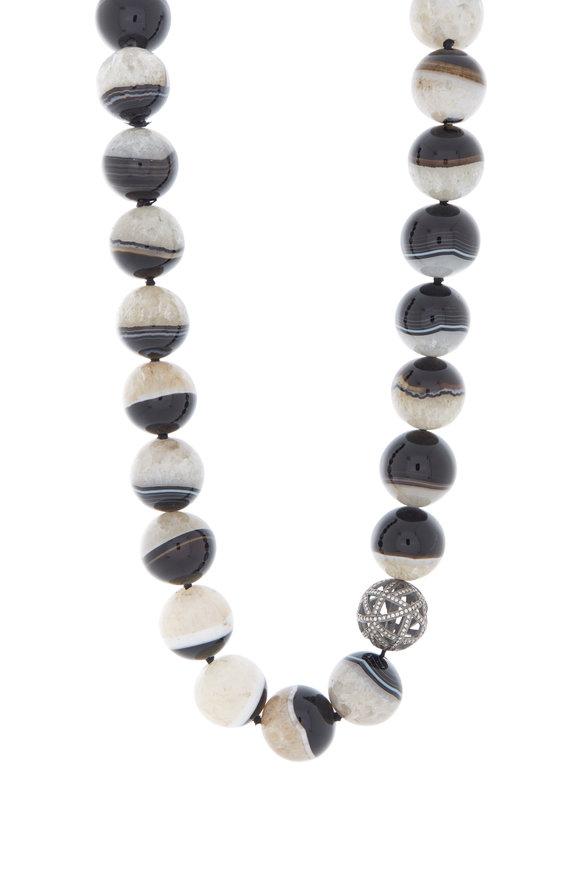 Yossi Harari 18K Black Gold Agate Necklace