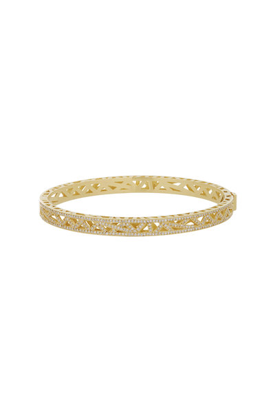 Yossi Harari - Diamond Pave Lace Cuff Bracelet