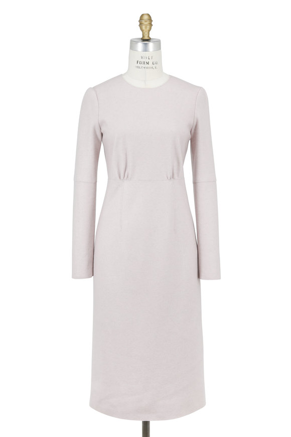 Agnona Rose Double-Faced Cashmere Long Sleeve Dress