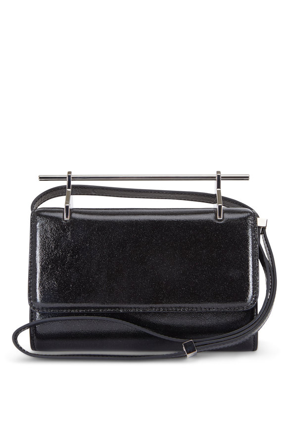 M2Malletier Fabricca Galaxy Black Patent Leather Clutch