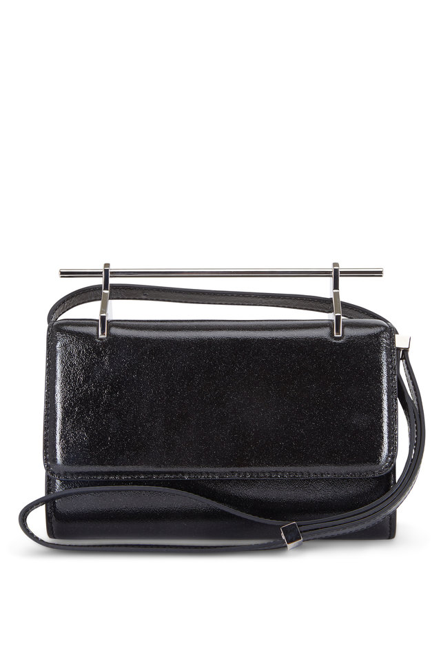 Fabricca Galaxy Black Patent Leather Clutch