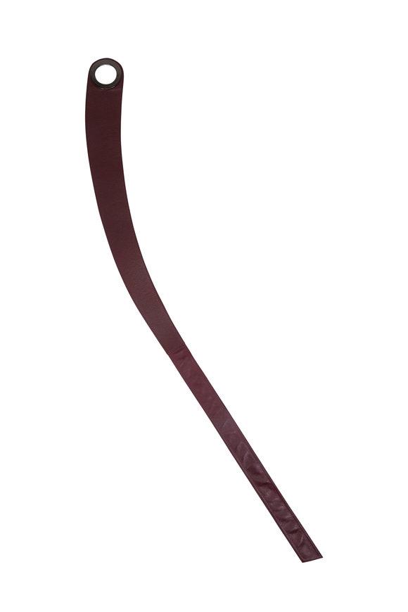 Suzi Roher Obi Burgundy Leather Gunmetal Ring Belt