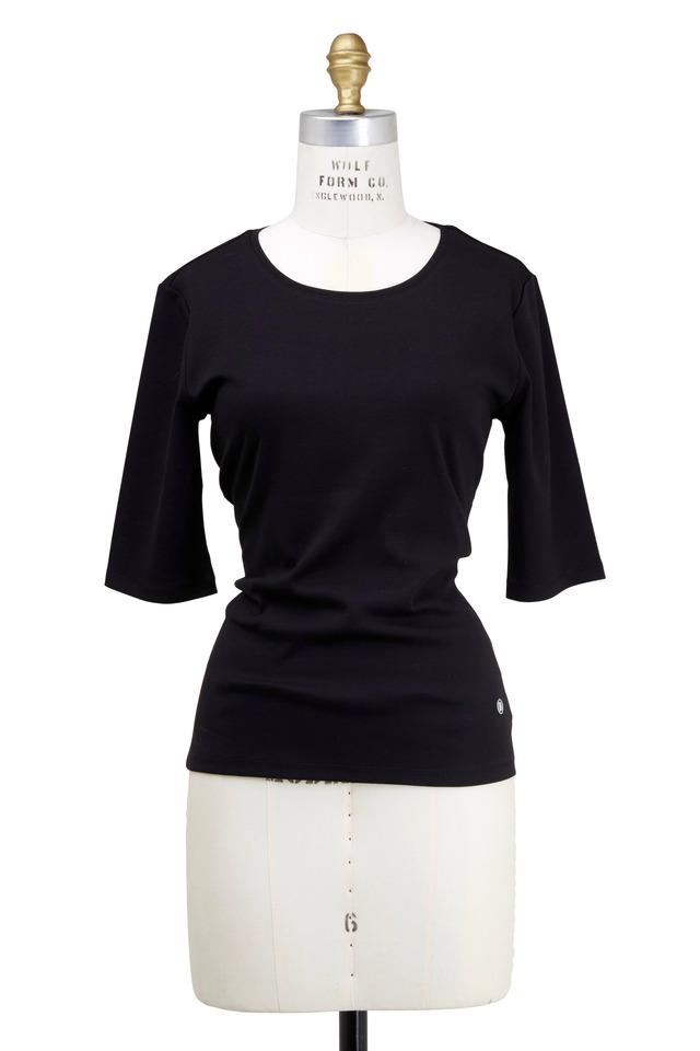 Black Velvet Knit Top