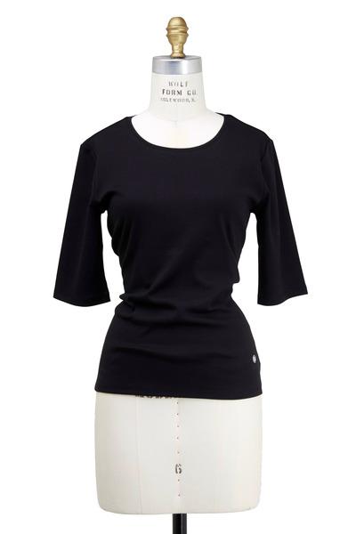 Bogner - Black Velvet Knit Top