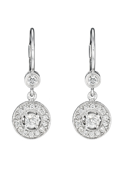 Penny Preville - White Gold Medium Pave Diamond Earrings