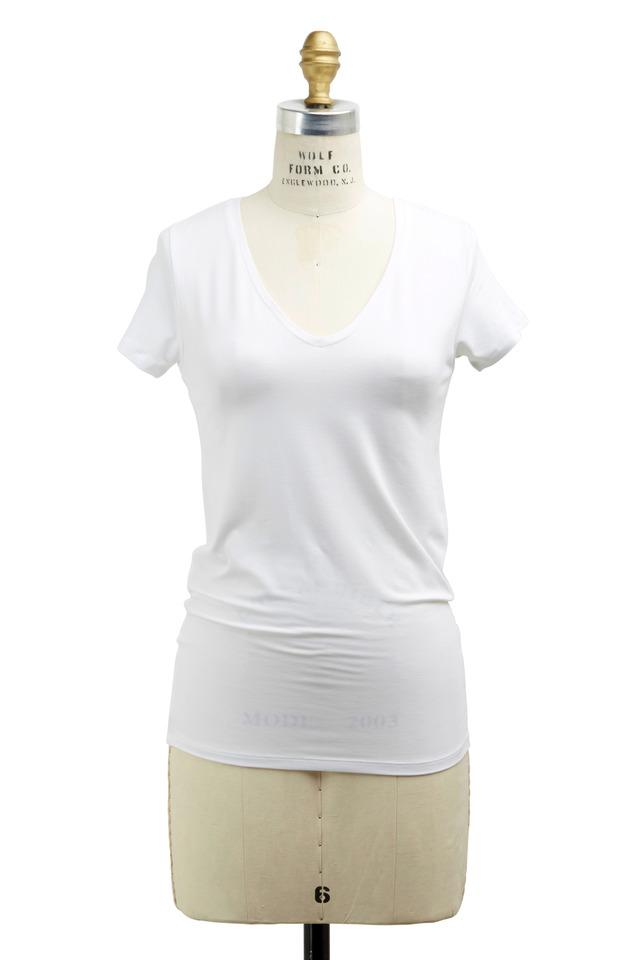 White Viscose T-Shirt