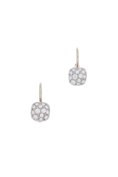 Pomellato - 18K Pink Gold Diamond Nudo Earrings