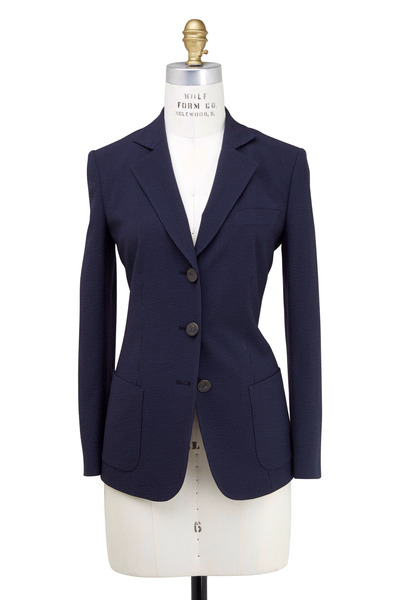 Giorgio Armani - Navy Blue Seersucker Jacket