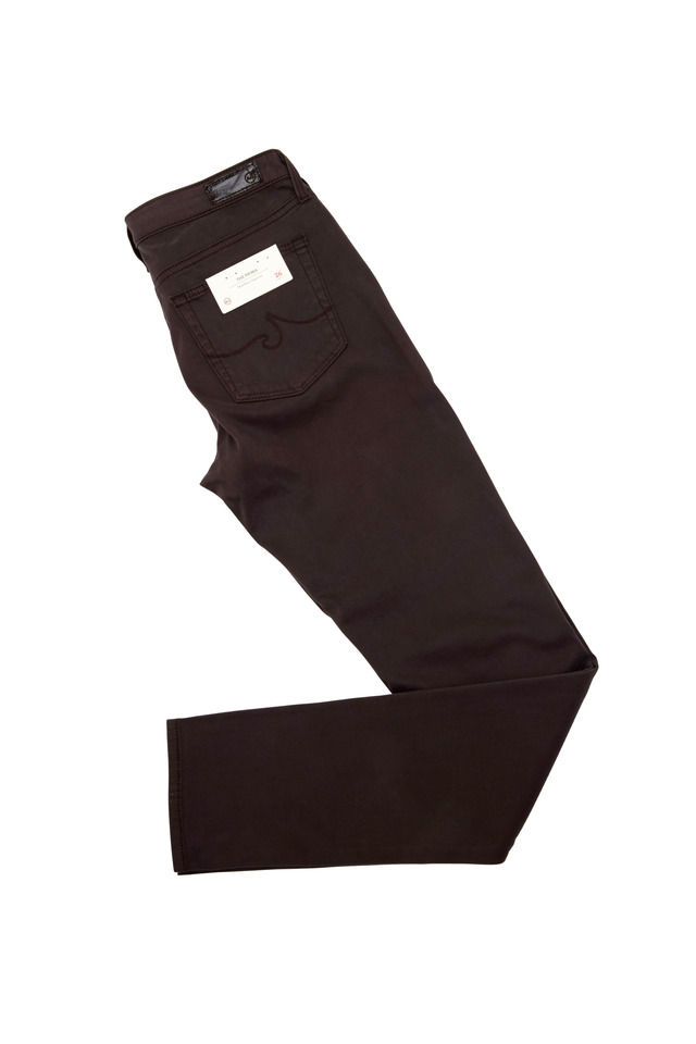 Prima Taupe Sateen Midrise Cigarette Jeans