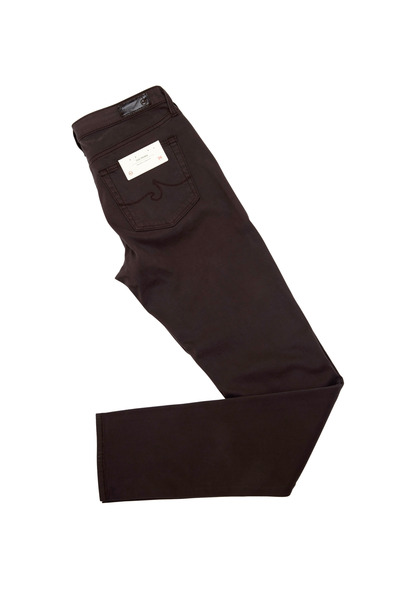 AG - Adriano Goldschmied - Prima Taupe Sateen Midrise Cigarette Jeans