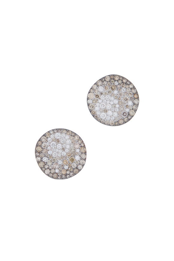 Pomellato 18K Gold Brown Diamond Sabbia Earrings