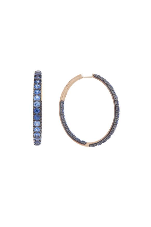 Pomellato Blue Sapphire Hoop Earring