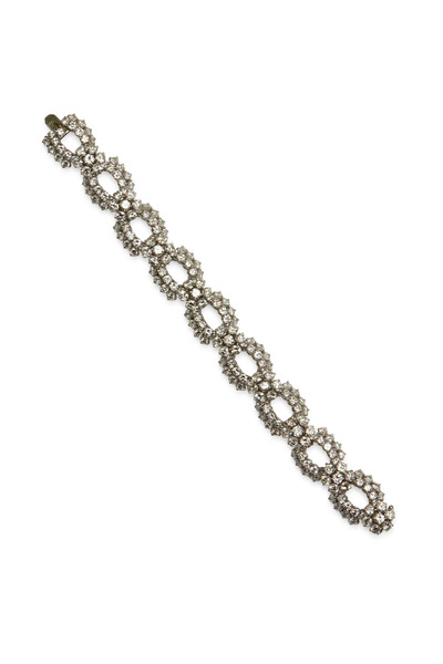 Fred Leighton - Harry Winston Platinum Diamond Cluster Bracelet
