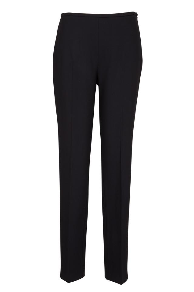 Black Crepe Skinny Pants