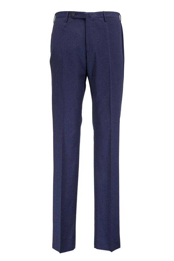 Incotex Benson Navy Blue Wool Stretch Pant