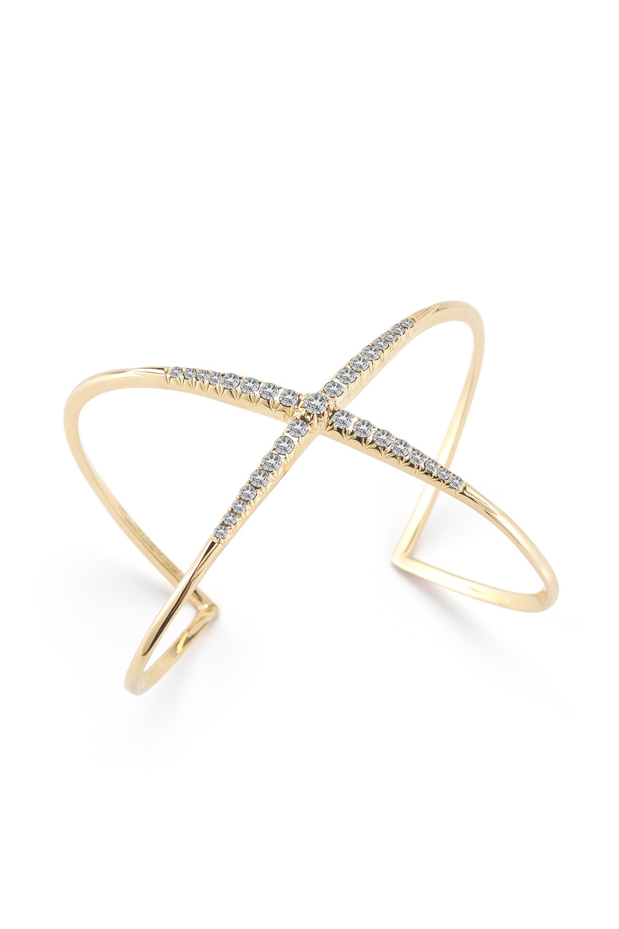 Northern Star Gold Plate Topaz Cuff Bracelet