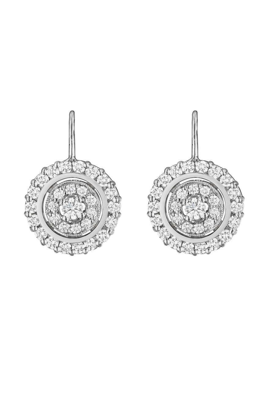 White Gold Round Diamond Earrings