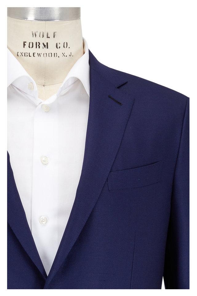 Navy Wool & Silk Cool Effect 10-Pocket Sportcoat