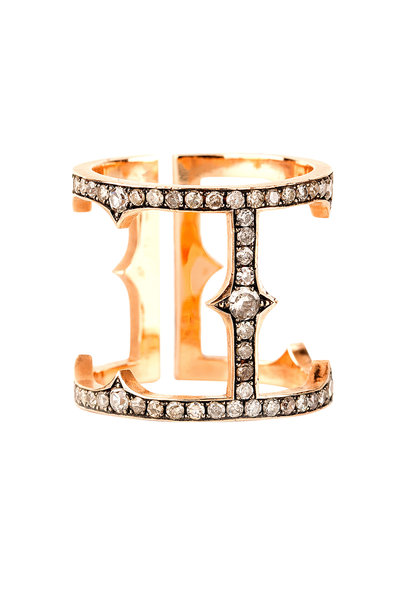 Sylva & Cie - 18K White Gold Diamond Cage Ring