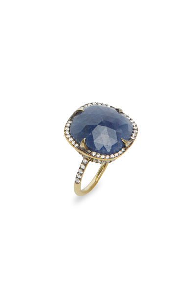 Sylva & Cie - Yellow Gold Sapphire & Diamond Ring