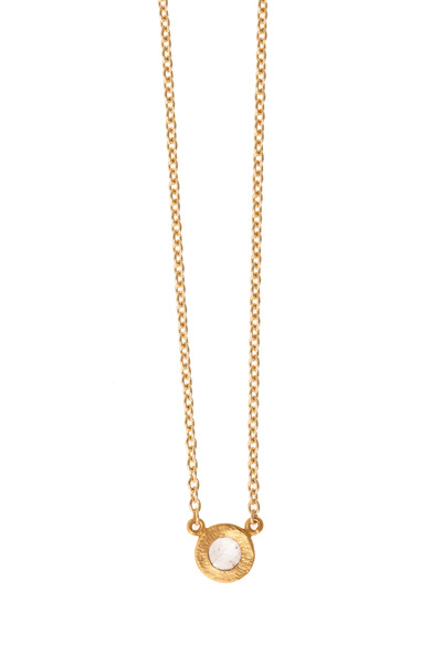 Yossi Harari - Yellow Gold Rose-Cut Mica Mint Diamond Necklace