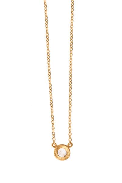 Yossi Harari - Yellow Gold Rose-Cut Mica Mint Diamond Necklace