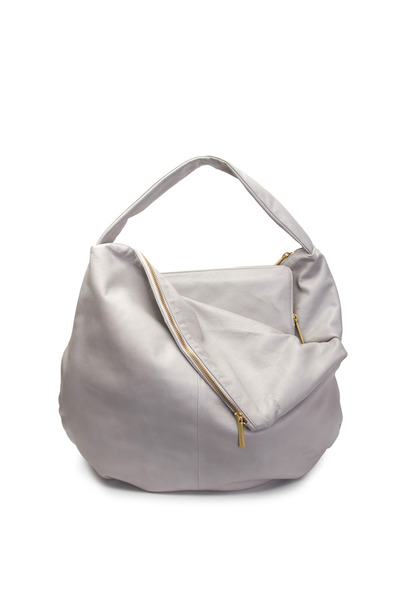 Lupo - Metropolis Taupe Leather Zip Hobo