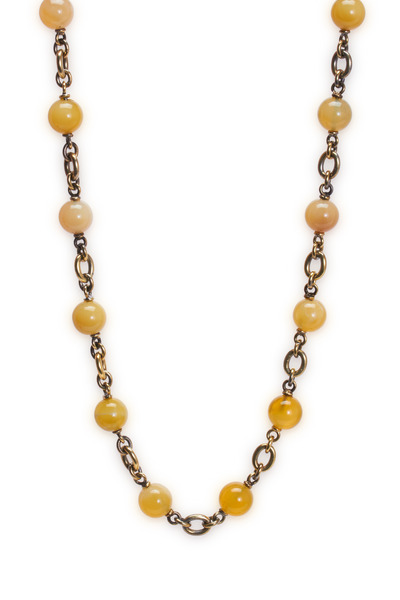 Sylva & Cie - Yellow Gold Zambian Opal Necklace