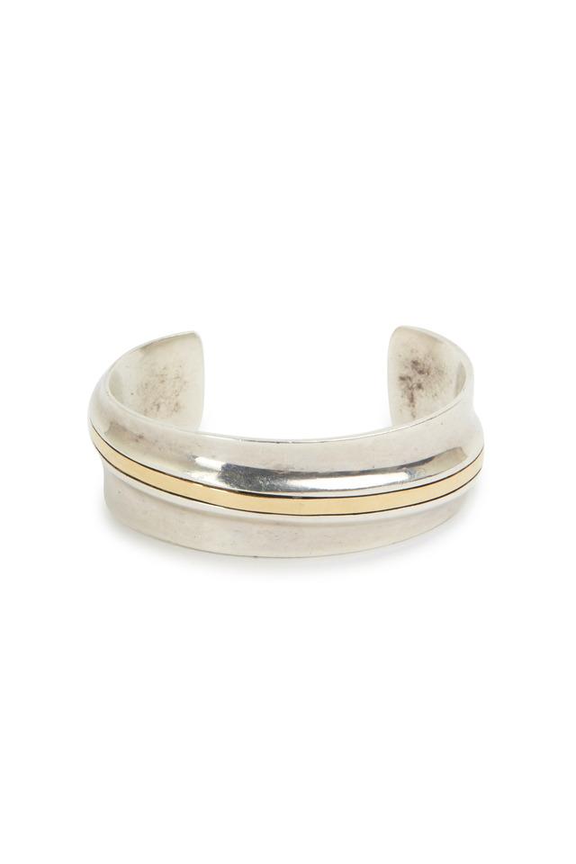 Gold & Sterling Silver Cartier Cuff Bracelet