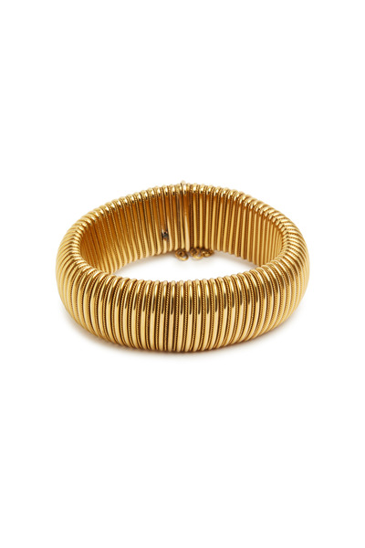 Fred Leighton - Yellow Gold Flexible Spring Barrel Bracelet