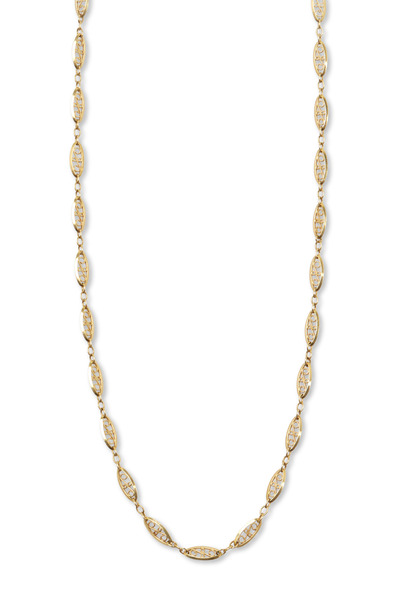 Fred Leighton - Antique Yellow Gold Filigree Link Chain Necklace