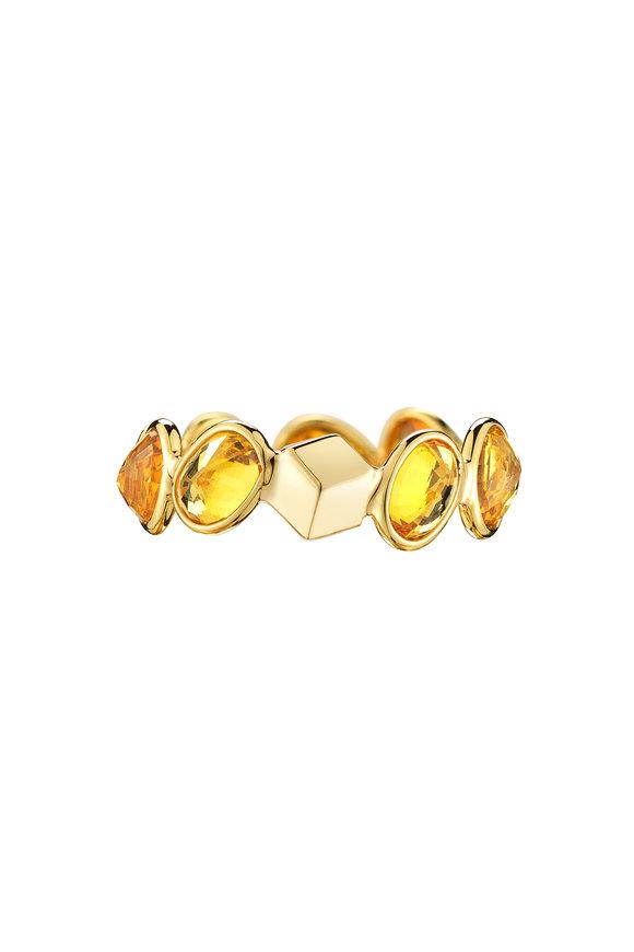 Paolo Costagli 18K Yellow Gold Orange Sapphire Brilliante Ring