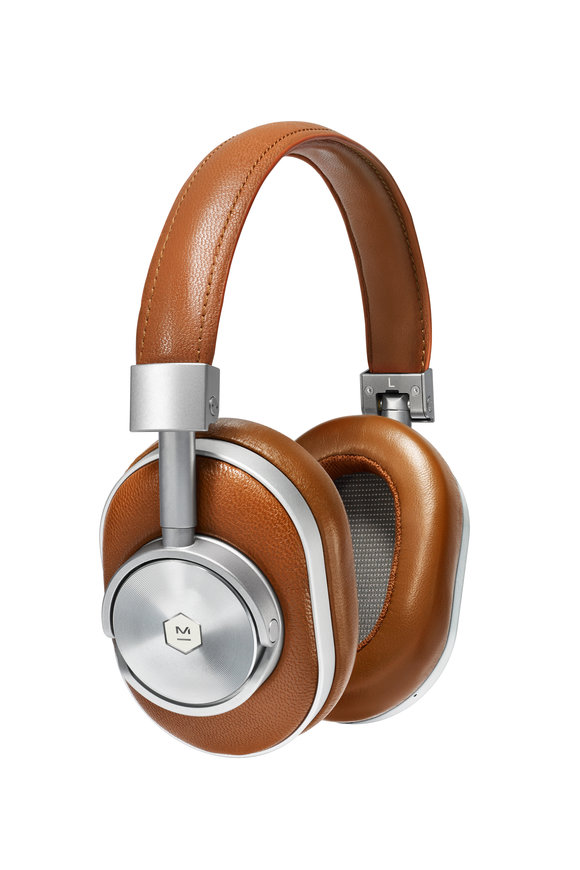 Master & Dynamic MW60 Silver Metal & Leather Wireless Headphones
