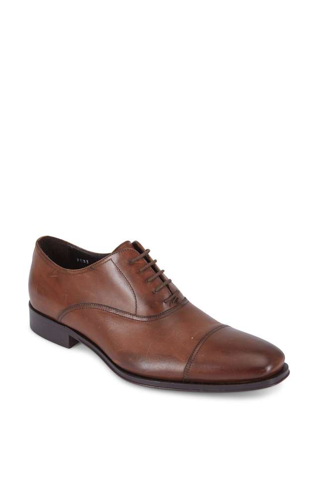 Aiden Brown Leather Cap-Toe Oxford