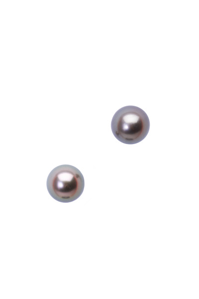 Frank Ancona - Yellow Gold Round Tahitian Pearl Earrings
