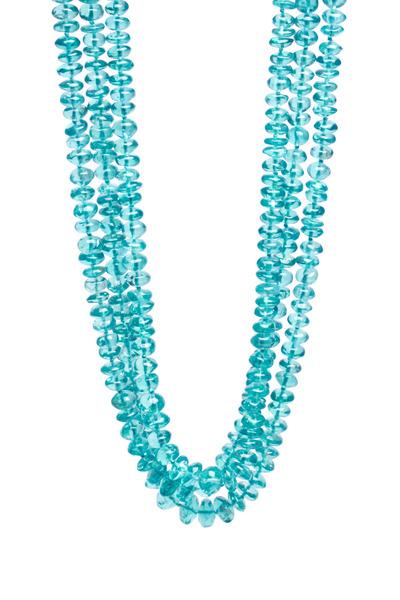 Frank Ancona - Triple Strand Turquoise Cabochon Bead Necklace